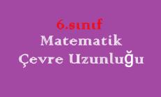 6. Sınıf Matematik Çevre Uzunluğu Online Test