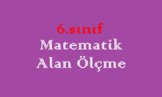 6. Sınıf Matematik Alan Ölçme Online Test