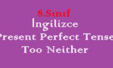 8. Sınıf İngilizce Online Test – Present Perfect Tense / too neither