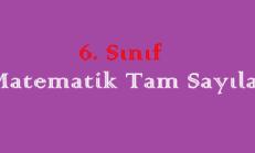 6. Sınıf Matematik Tam Sayılar Online Test