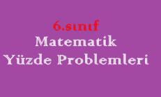 6. Sınıf Matematik Yüzde Problemleri Online Test