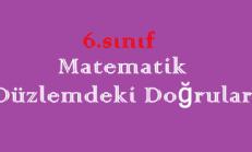 6. Sınıf Matematik Düzlemdeki Doğrular Online Test
