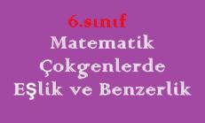 6. Sınıf Matematik Çokgenlerde Eşlik ve Benzerlik Online Test Çöz