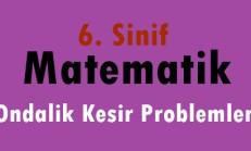 6. Sınıf Matematik Ondalık Kesir Problemleri Online Test