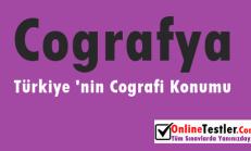 Türkiye 'nin Coğrafi Konumu Online Test