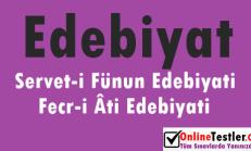 Servet-i Fünun Edebiyatı – Fecr-i Âti Edebiyatı Online Test Soruları
