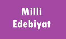 Milli Edebiyat Online Test Soruları