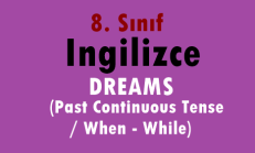 8. Sınıf İngilizce Online Test – DREAMS (Past Continuous Tense / When – While)