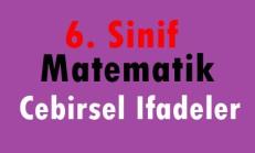 6. Sınıf Matematik Cebirsel İfadeler Online Test