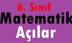 6. Sınıf Matematik Açılar Online Test