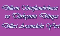 Dillerin Sınıflandırılması ve Türkçenin Dünya Dilleri Arasındaki Yeri Test Çöz