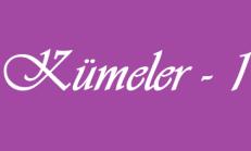 Kümeler – 1 Matematik Online Test