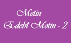 Metin – Edebî Metin 9. Sınıf Tük Edebiyatı Online Test – 2