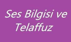Ses Bilgisi ve Telaffuz 9. Sınıf Dil ve Anlatım Online Test