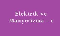 Fizik Elektrik ve Manyetizma 5 Küçük Online Deneme Sınavı