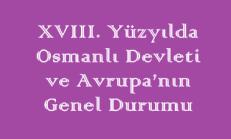 17. Yüzyılda Osmanlı Devleti ve Avrupa'nın Genel Durumu Online Test