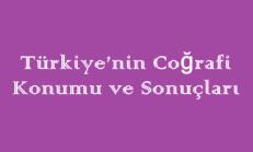 Türkiye'nin Coğrafi Konumu ve Sonuçları Online Test