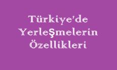 Türkiye'de Yerleşmelerin Özellikleri Online Test