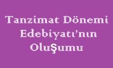 Tanzimat Dönemi Edebiyatı'nın Oluşumu Online Test