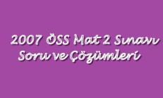 2007 ÖSS'de Çıkmış Matematik Soruları ve Çözümleri Online Test