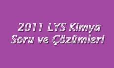 2011 LYS Kimya Soru ve Çözümleri Online Test