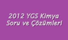 2012 YGS Kimya Soru ve Çözümleri Online Test