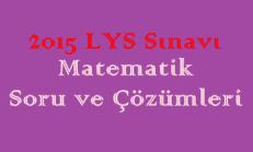2015 LYS Sınavı Matematik Soru ve Çözümleri Online Test