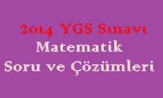 2014 YGS Sınavı Matematik Soru ve Çözümleri Online Test