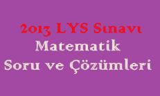 2013 LYS Sınavı Matematik Soru ve Çözümleri Online Test