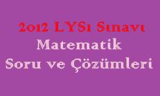 2012 LYS Sınavı Matematik Soru ve Çözümleri Online Test