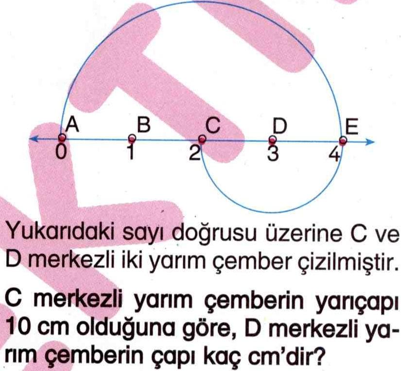 Çemberin çapını hesaplama ile ilgili soru