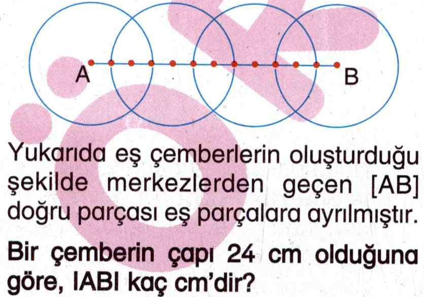 Çemberin çapının hesaplanması ile ilgili soru