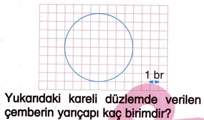 Çemberin yarıçapını hesaplama ile ilgili soru