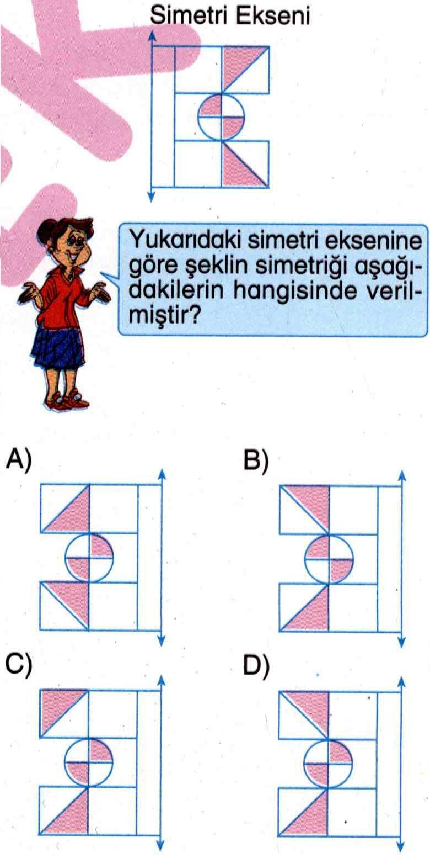 Şeklin simetriğini bulma ile ilgili soru