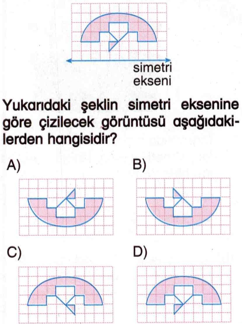Şeklin simetriğini bulma ile ilgili test