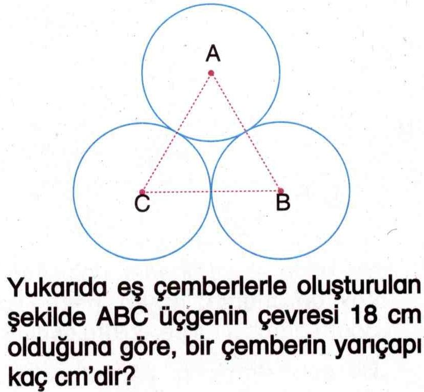 Bir çemberin yarıçapını hesaplama ile ilgili soru