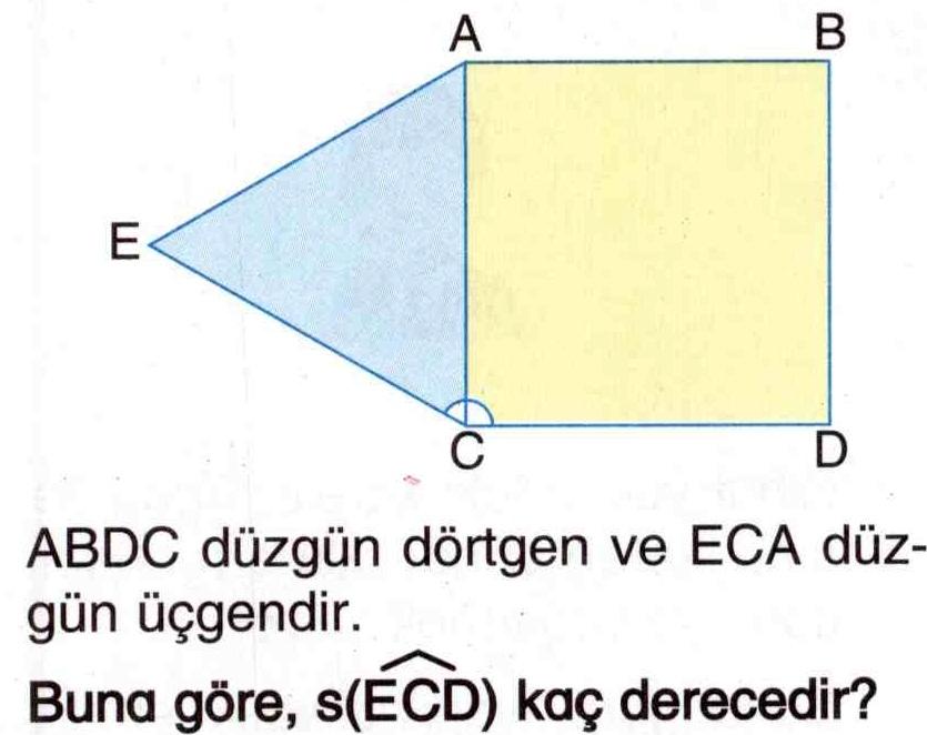 Düzgün dörtgen ve üçgenler ile ilgili soru