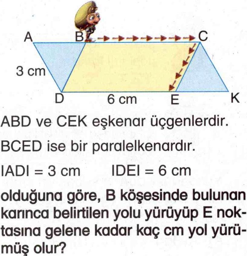 Eşkenar üçgen ve paralelkenarlar ile ilgili soru