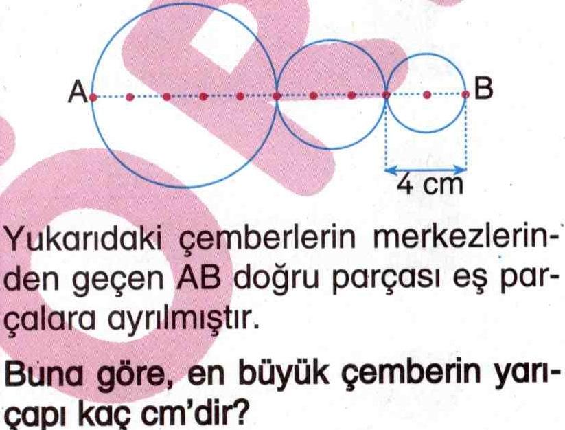 En büyük çemberin yarıçapını hesaplama ile ilgili soru