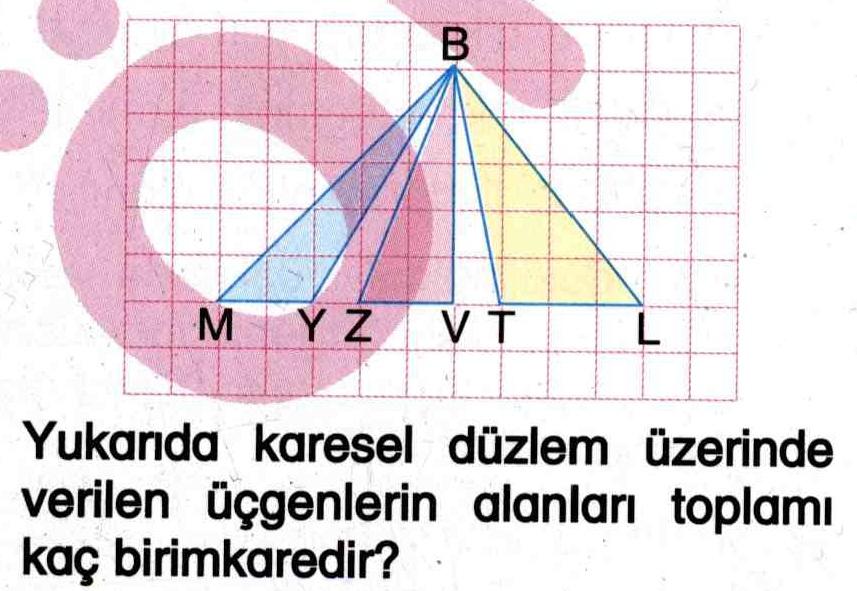 Küresel düzlem üzerindeki üçgenlerin alanlarını hesaplama ile ilgili soru