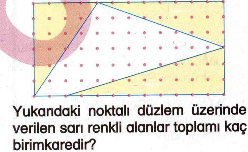 Noktalı düzlem üzerinde alan hesaplama ile ilgili soru