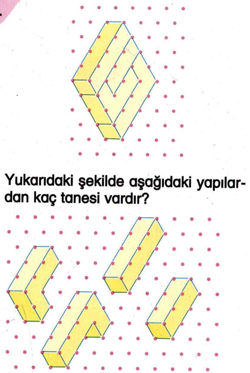 Noktalı düzlem üzerinde geometrik şekiller ile ilgili soru