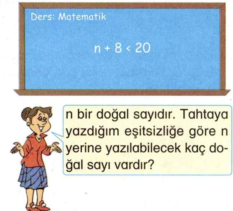 n doğal sayısının yerine yazılabilecek sayılar ile ilgili soru