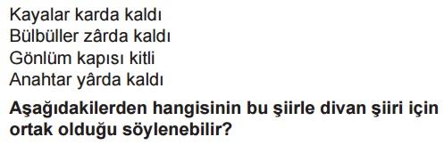 Anonim Halk şiiri Online Test çöz Sözlü Edebiyat Lys Mani Ninni Türkü