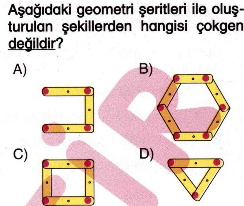 geometrik şekiller ile ilgili soru